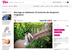 Mariage en Wallonie: 15 endroits de réception magiques